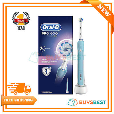 Oral-B Electric Toothbrush PRO 600 Sensi-Clean Ultrathin 3D Action Rechargeable