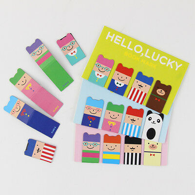 4pcs/set New Cute Magnetic Metal Lucky Bookmarks Book Pins Clip