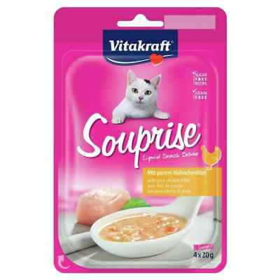 Souprise Liquid Snack Filet de Poulet pour Chat - Vitakraft - 4x20g