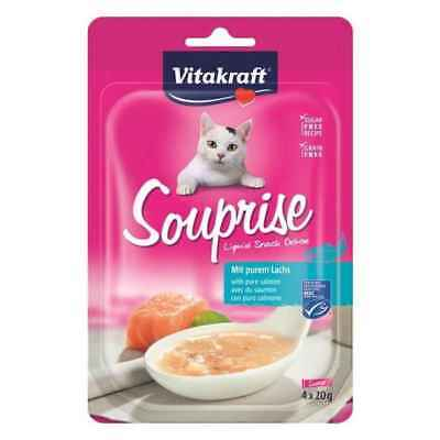 Souprise Liquid Snack Saumon pour Chat - Vitakraft - 4x20g