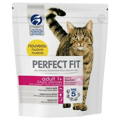 Croquettes Adult 1+ au Saumon pour Chat Stérilisé - Perfect Fit - 1,4Kg