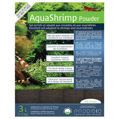 Sol Naturel AquaShrimp Powder pour Aquarium - Prodibio - 3L