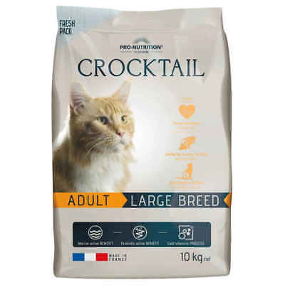 Croquettes CROCKTAIL Adult Large Breed pour Chat - Flatazor - 10Kg