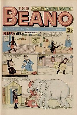 The Beano Comic #1669 July 13th 1974 - very good condition