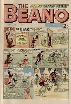 The Beano Comic #1645 January 26th 1974 - very good condition