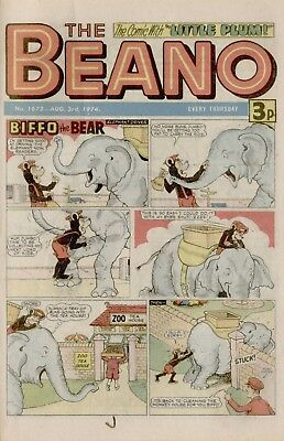 The Beano Comic #1672 August 3rd 1974 - very good condition