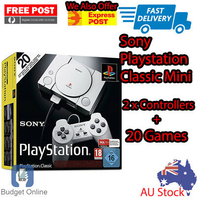 Brand New Sony PlayStation Classic PS1 Mini Gaming Console Tekken 3 Ridge Racer