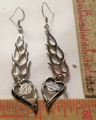Vintage Harley earrings collectible old Hd motorcycle rider biker chick jewelry