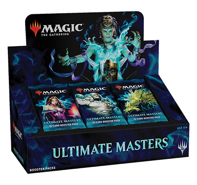 """sealed MTG Ultimate Masters Booster Box - """"WITH"""" ULTIMATE BOX TOPPER"""
