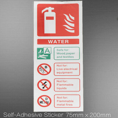 5/10x ID Sticker Sign Water Fire Extinguisher Decal Warning Self Adhesive Vinyl