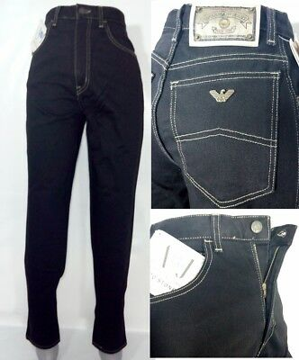 Armani jeans black women's jeans eco stone cotton Made in Italy RP £140
