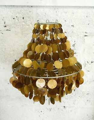 Capiz Shell Free Handing 40 cm Decoration Lampshade OR Windchime BROWN~GOLD