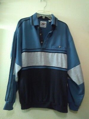 LD Sport International Men's Shirt Long Sleeve Blue Size Large Vintage 80's