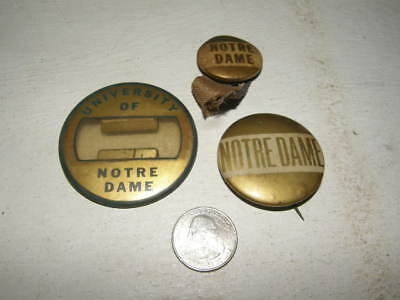 Vintage Notre Dame University Football Sports pins