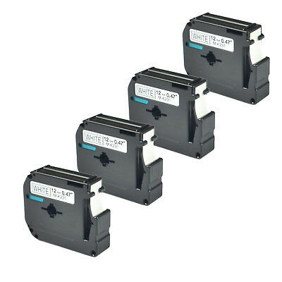 4 PK Compatible for Brother P-touch Label M-K231 MK231 Black/White Tape 26.2Ft