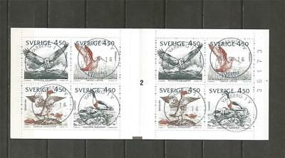 SWEDEN - 1992 Mare Balticum  - USED BOOKLET WITH 2 BLOCKS OF 4..