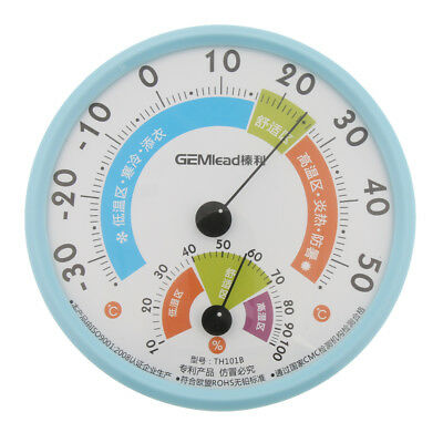 Round Dial Indoor Household Humidity Thermometer Temperature Gauge, -30~50°C