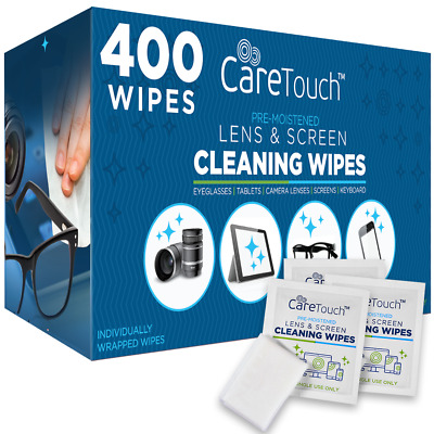 400 Pre-Moistened Lens Cleaning Wipes for Sunglasses, Lenses, Tablets, & More