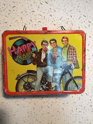 """Vintage 1976 """"Happy Days"""" The Fonz Metal Lunch Box no thermos"""