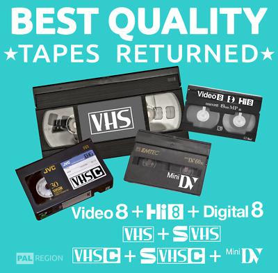📼VIDEO TAPE TO DVD💿 / MP4 DOWNLOAD💾 TRANSFER/CONVERT-VHS,MINIDV,Hi 8,Digital8