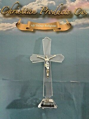 Glass Crucifixes cross polished figurine high quality religious gift