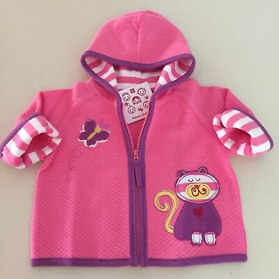 HANNA ANDERSSON Adorable Baby Girls Cat/Butterfly Jacket. 6+ Months.NEW! So Cute