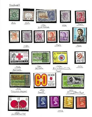 Hong Kong collection 70 stamps, used 1880 - 1992