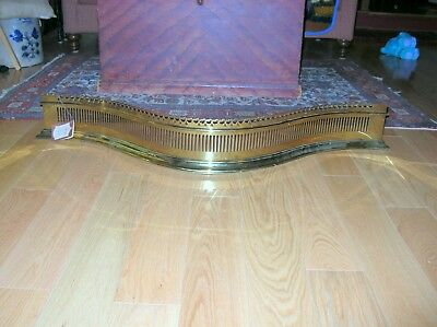 New Old Stock Williamsburg Serpentine Fireplace Fender With Tags
