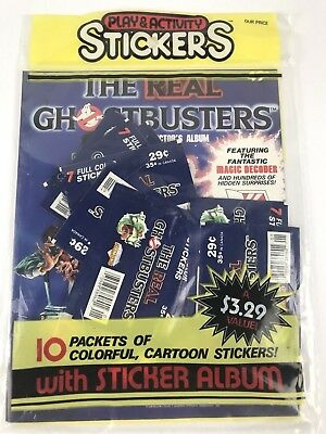 The Real Ghostbusters Sticker Album Sealed  10 Sticker Packs Magic Decoder 1986