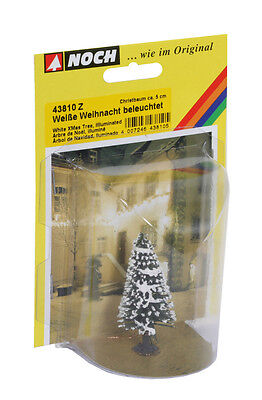 Noch 43810 Z Scale White Snow-Covered Lighted Christmas Tree *NEW $0 SHIPPING