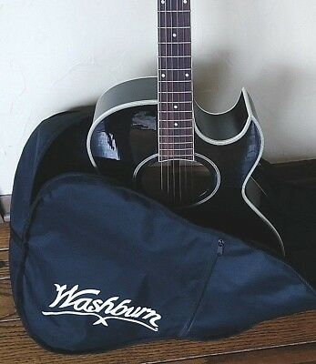 Washburn Festival Series EA9B Acoustic-Electric Guitar with padded bag