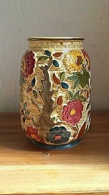Indian Tree Hand Painted vase  1930