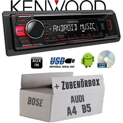 Kenwood Radio per Audi A4 B5 Bose Rosso CD/MP3/USB Android-Steuerung