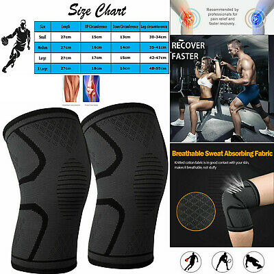 A Pair Orthopaedic Heating Magnetic Knee Support Tourmaline Sprain Arthritis New