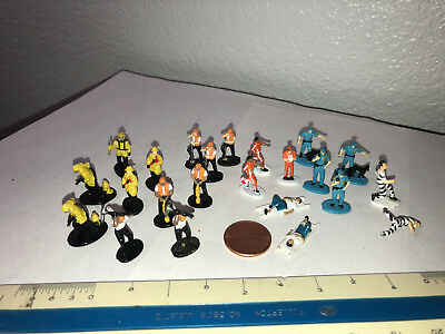 Micro Machine lot - construction worker - firefighter - police - Paramedic - 23p
