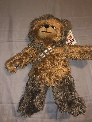 "New Build a Bear 17"" Tall Star Wars Chewbacca Plush Stuffed with Tags/ Sound"