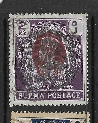 1942,burma,japanese Occupation,sgj19 Kgvi,used,india,state Peacock--Xx