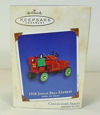 2002 Hallmark Ornament 1928 Jingle Bell Express Mib