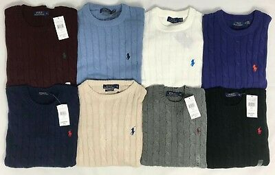 Polo Ralph Lauren New Genuine Men's Cable Knit Jumper Pullover Long Sleeve Bnwt