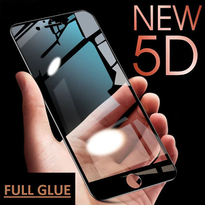5D/6D Full Glue Cover Tempered Glass Curved Protector For Iphone XS 6 7 8 PLUS