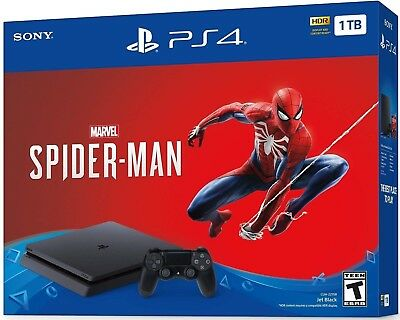 Sony PlayStation(PS4) 4 1TB Marvel's Spider-Man Console Bundle - Jet Black (New)