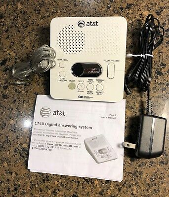 Telephone Answering Machine: AT&T 1740 Digital Answering System