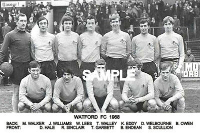 Watford FC 1968 Team Photo