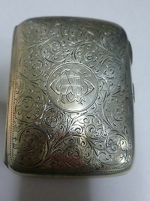 Antique   Chester 1899   Sterling  Cigarette, And   Business  Card    Case