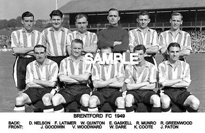 Brentford FC 1949 Team  Photo