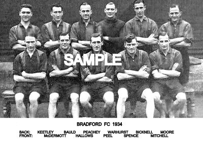 Bradford City FC 1934 Team  Photo