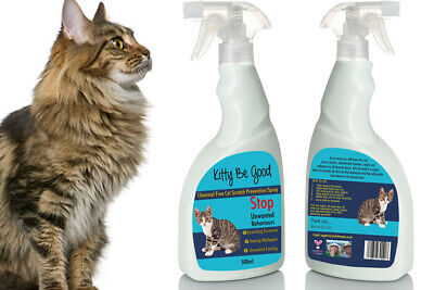 Kitty Be Good Anti Scratch Spray Stop Cat Scratching Wallpaper Carpet Sofa 500ml