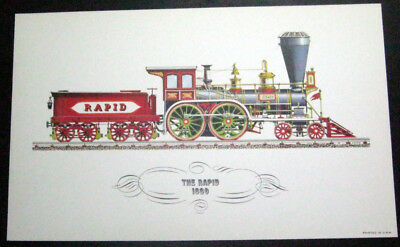 Railroad Poster - The Rapid - Locomotive - #1860 - 8' x 13""