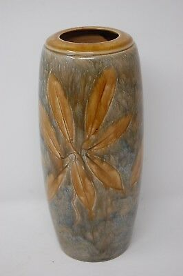 Vintage Royal Doulton Stoneware 'Autumn Leaves' Vase