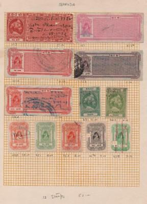 INDIAN STATES: Baroda State Revenues - Ex-Old Time Collection - Page (20415)
